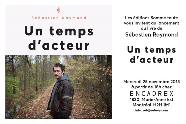 invitation le temps dacteur